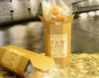 Caramel, Sampler box, selection of four flavors, half pound of Handmade caramels, Chocolate,Sea salt, Vanilla, Coffee, Ginger- lime