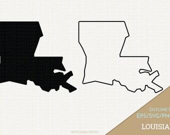 Louisiana Vector, State Clipart, LA Clip Art, Louisiana SVG, State PNG  (Design 13739)