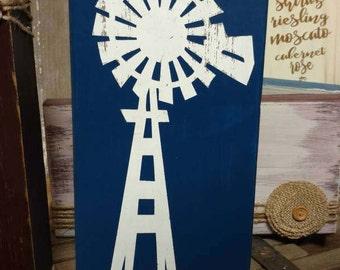 Windmill Sign, Windmill Decor, Windmill Wall Decor, Farmhouse Decor, Farmhouse Sign, Wood Sign, Farmhouse Style House