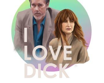 I Love Dick Kathryn Hahn & Kevin Bacon Painting A6 Postcard