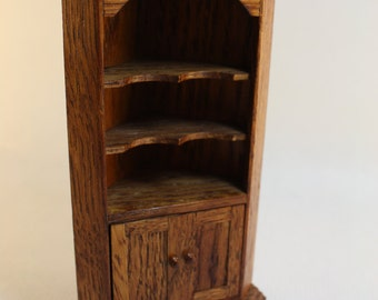 Dollhouse Miniature Real Oak Corner Cabinet or Hutch Imported from Wales (1/12 Scale)