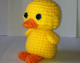 Duck, Duckling, Amigurumi Duckling, Handmade Duck, Soft Toy, Stuffed Animal, Yellow Duck, Gift,  Present, Toy, Birthday Gift
