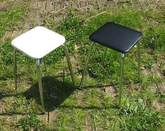 "Pair of stools ""Black & White"""