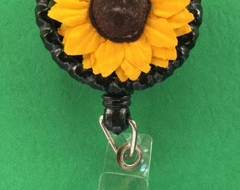 Sunflower Retractable ID Badge Holder