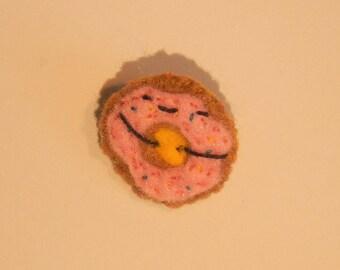 Donut pin cute kawaii felt cute donut pin felt badges