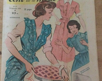 Genuine Vintage 1950s French Fashion Magazine Let Petit Echo de la Mode n47