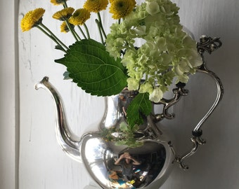 Vintage Silver Teapot - Birmingham Silver Co.