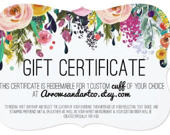 Cuff Gift Certificate | Digital Download