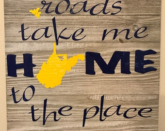 Country Roads Wall Sign