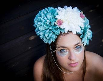 Shabby chic flowercrown, floral headband