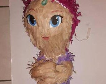 Shimmer and Shine. Shimmer Piñata. Handmade. New