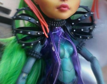 Monster High Jinafire Long Chinese Dragon Remake with Custom Metallic Scales and Handpainted Boots