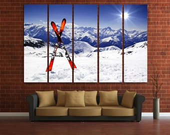 Ski Wall Decor Ski Art Winter Sport Winter Photography Winter Wall Decor Ski canvas art Ski Photo Ski Wall Art Ski Poster Ski Print Ski Art