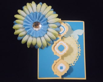 Mirror Image Flip Greeting Card - Blank
