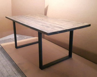 Handmade Dining Table on Custom Metal Legs