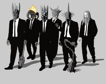 Reservoir Lords ( Mace Variant) Tee  / Lord of the Rings T-shirt  / Reservoir Dogs / Tarantino / Morgoth, Sauron/   Free Shipping worldwide