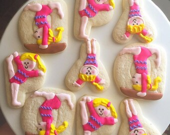 Sweet little gymnast cookies