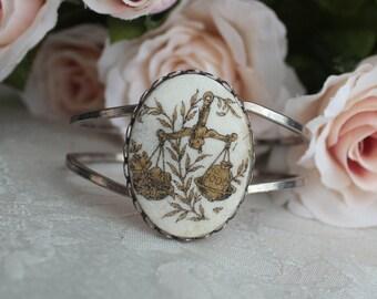 Zodiac Sign Libra Scales Silver Tone Bracelet