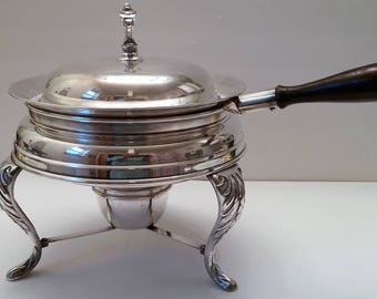 Silver Plate Chafing Dish With Warming Stand