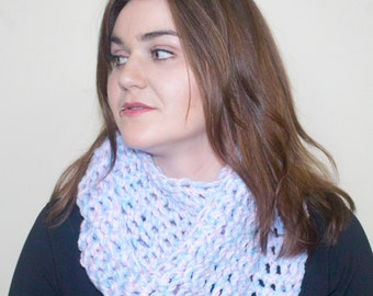 Pink and Blue Infinity Scarf