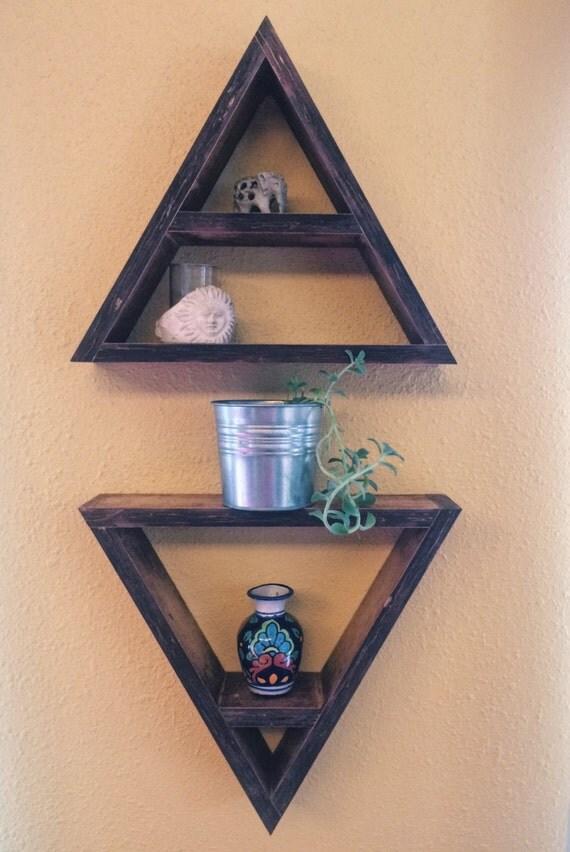Handmade Triangle Wall Shelves Geometric Shelves Triangle