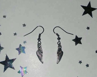 Silver Angel Wing Earrings Fashion Charm