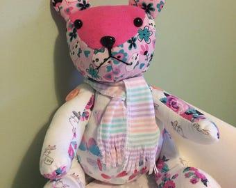 Babygrow Patchwork Teddy Bear Memory Keepsake