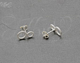 Earrings 925 sterling silver * 2 circle * circle * ring