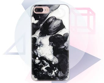Black White Marble Case Marble iphone Cover Clear Case iphone 8 case marble iPhone 6 Plus Case Clear Marble Phone 7 Iphone 7 Plus  MC1036