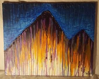 Original Painting - 'Desert Mountain Scape'
