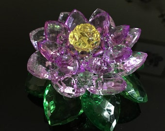 Crystal-style Waterlily / Lotus Decoration   Home Decor   Present / Gift