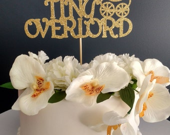 Tiny Overlord- Funny Cake Topper, Baby, Shower