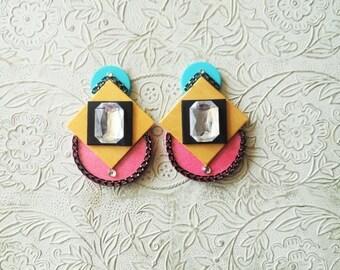 Retro mod inspired earrings