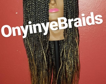 OMBRE Handmade Braided Wig/ 30 inches long/Waist Length
