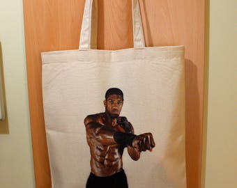Anthony Joshua Tote Bag, Anthony Joshua Shopping Bag, Anthony Joshua Fan Gift, 100% Cotton Tote Bag, Canvas Tote Bag, Market Cotton Tote Bag