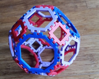 Build these 3D Shapes! Polyhedra that snap together