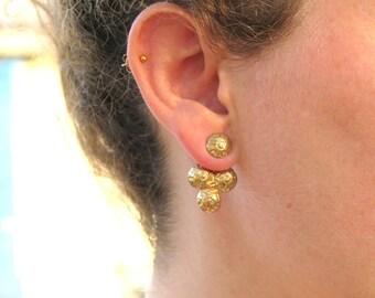Ear Jackets,Gold Earrings,Statement Earrings,Gold Plated Earrings,Gold Ear Jacket,Jacket Earring,Geometric Earrings, Minimalist Earrings