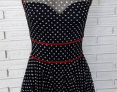 Polka Dot Dress Costume and Fascinator, Dance Costume, Aerial Costume, size small