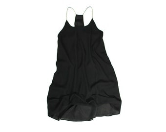 1990's Sheer Black Camisole Tunic Dress