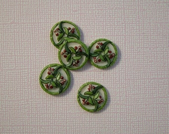 Cherry Buttons set of 5