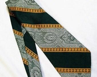 Vintage necktie, Blue Necktie, flashy tie, Retro Necktie, 1970s, Wide Neckties
