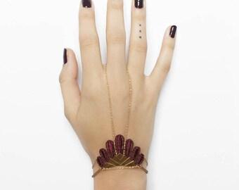 Lace bracelet - HIKULI - Black, burgundy, mustard, raspberry or silver lace