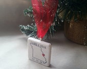 Personalized Missouri Christmas Ornament - Holiday Gift - Wedding Gift For the Couple
