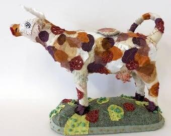 cow creamer textile animal sculpture