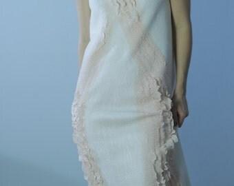 Midi Wedding Dress, Pencil Dress, Straight Dress, Draped Dress, Nuno Felt Dress, Sexy Dress, Cap Sleeve Dress, Elegant Dress, Designer Dress