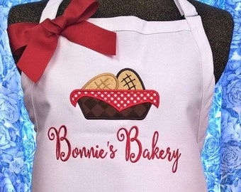 Personalized Apron Bakery Apron Baking Apron Monogrammed Gift