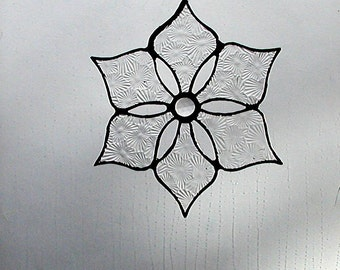 Snowflake,Star,Stained Glass, Suncatcher, Winter, Glisten, Sparkle, Art & Collectibles, Glass Art, Glass Snowflakes, Holiday, Window Art
