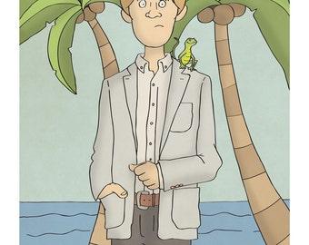 Humphrey - Death in Paradise - Illustration Print