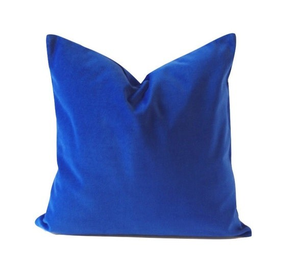 Royal Blue Decorative Pillow Cover 16x16 TO 26x26 Medium