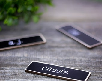 Magnetic Name Tags, 6 Chalkboard Name Tags Chalkboard Name Badge,s Reusable Magnetic Name Tags, Reusable Magnetic Name Badges
